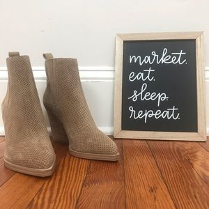 Marc Fisher Suede Booties - Taupe